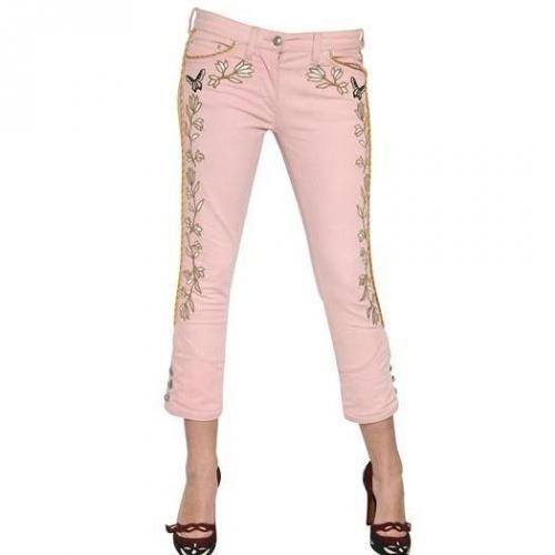 Isabel Marant - Bestickte Stretch Baumwoll Denim Jeans