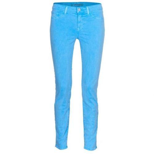 J Brand 811 Mid-Rise Skinny Neon Blau