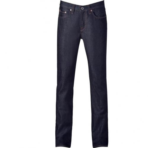 J Brand Jeans Dark Blue JB Kane Slim Straight Raw Denim Pant
