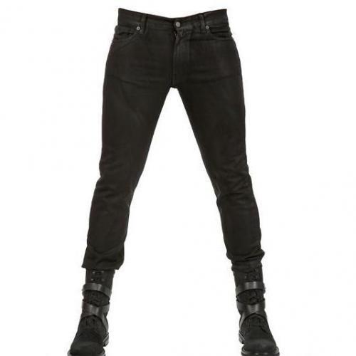 Karl - 16,5Cm Gewachste Denim Stretch Skinny Jeans