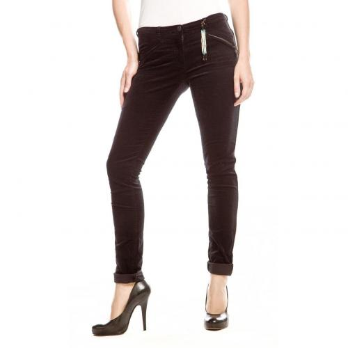 Maison Scotch Cordpant Slim Fit Schwarz