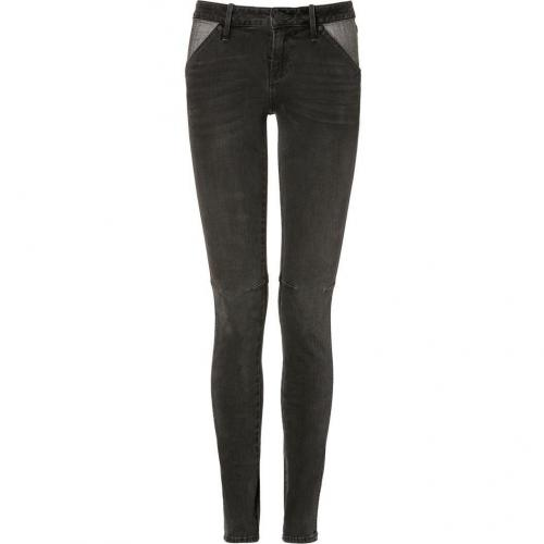 Marc by Marc Jacobs Bedford Black Seamed Skinny Jeans