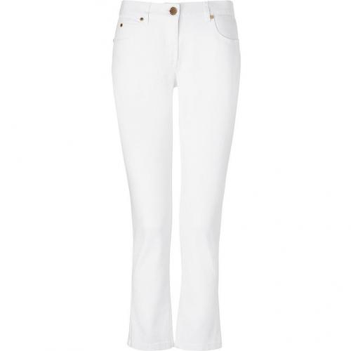 Michael Kors White Ankle Length Jeans