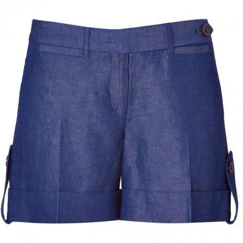 Milly Indigo Cuffed Denim Shorts