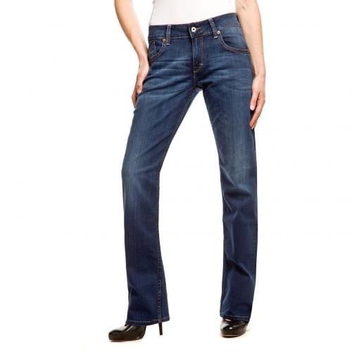 Mustang Emily Jeans Überlänge 36 Straight Fit Dark Used