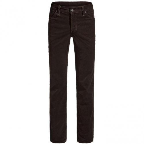 Mustang Tramper Cordjeans Straight Fit Chocolate