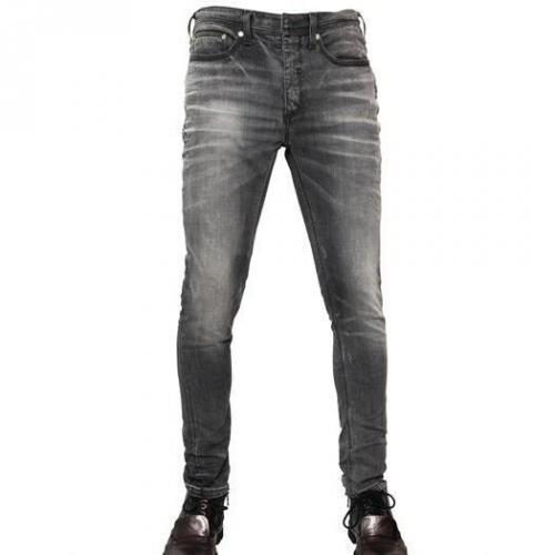 Neil Barrett - 15Cm Washed Stretch Denim Skinny Jeans