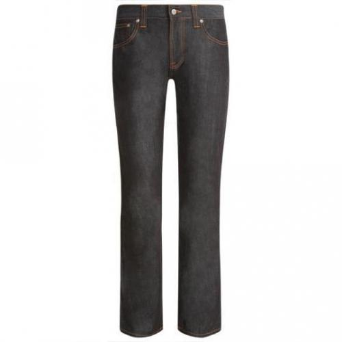 Nudie - Hüftjeans Slim Jim Dry Broken Twill Blau