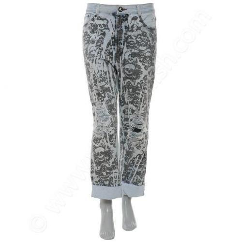 One Teaspoon Jeans Skull Lace print