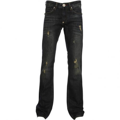 Philipp Plein Homme Boot Cut Skull Army Blue Spirit