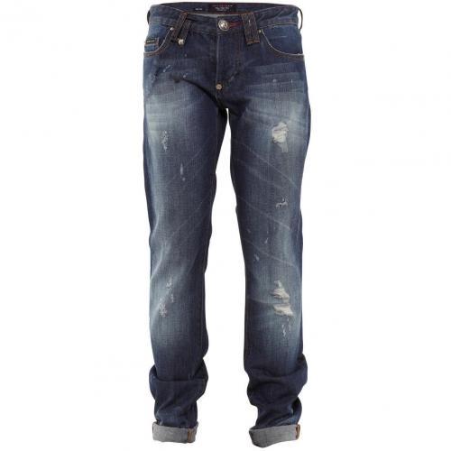 Philipp Plein Jeans Fight Blue Used Look