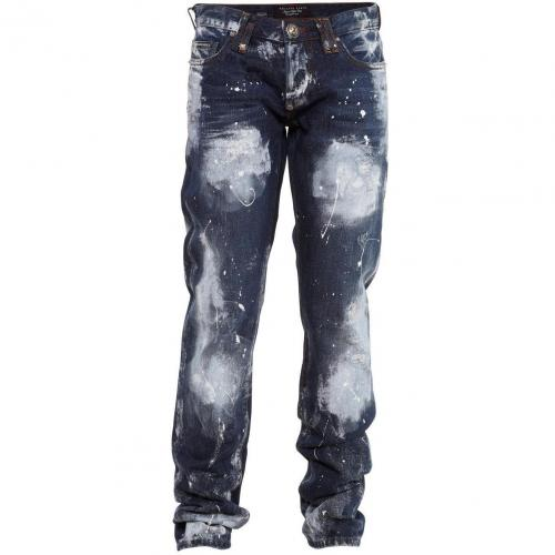 Philipp Plein Jeans Fight Painted