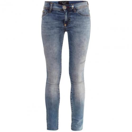 Philipp Plein Jeggings Devils Food California Blue