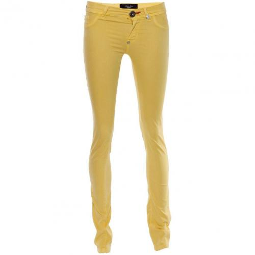 Philipp Plein Jeggings Devils Food Yellow