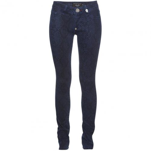 Philipp Plein Jeggings Reptile Dark Blue
