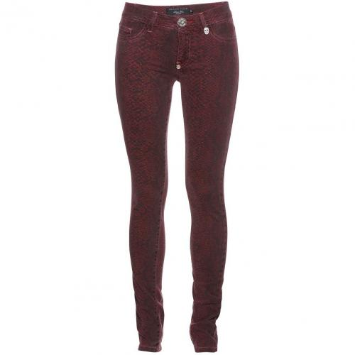 Philipp Plein Jeggings Reptile Red