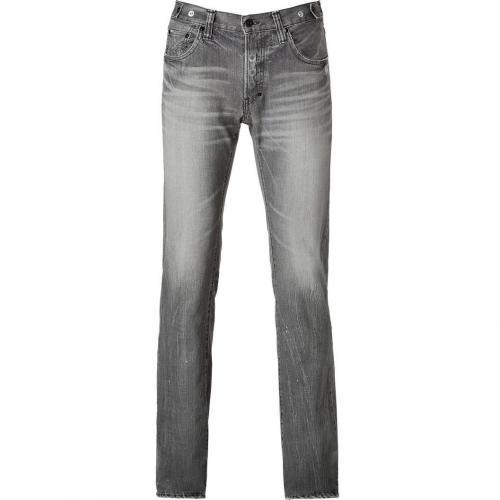 Prps The Rambler Grey Washed 5 Pocket Jeans