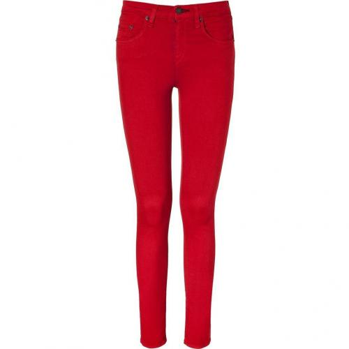 Rag & Bone Poppy Red High Rise Skinny Pants