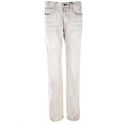 Replay Doc Jeans Straight Fit Grau