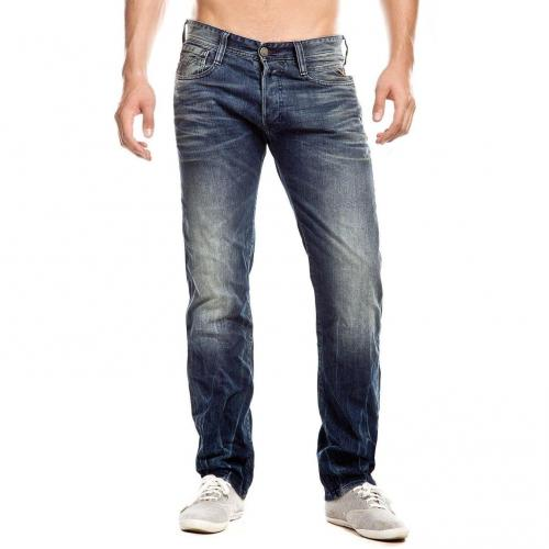 Replay New Doc Jeans Straight Fit Stone Used