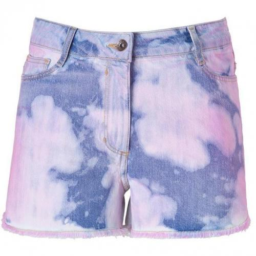 Sandro Denim and Rose Tie Dye Jeans Short
