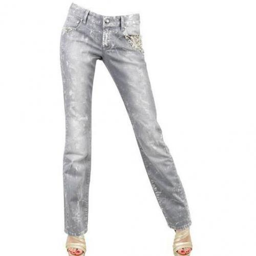 Seven 7 - Destroy Stretch Denim Mit Stickerei