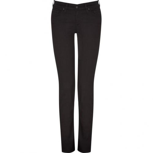 Seven for all Mankind Black Classic Skinny Roxanne Jeans