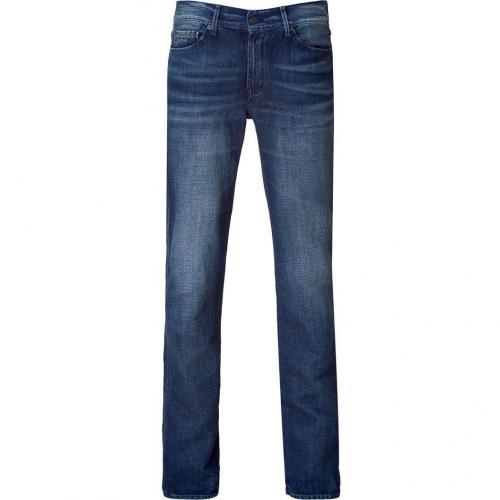Seven for all Mankind Blue Washed Slim Straight Slimmy Jeans