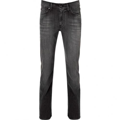 Seven for all Mankind Faded Black Slimmy Straight Leg Pants