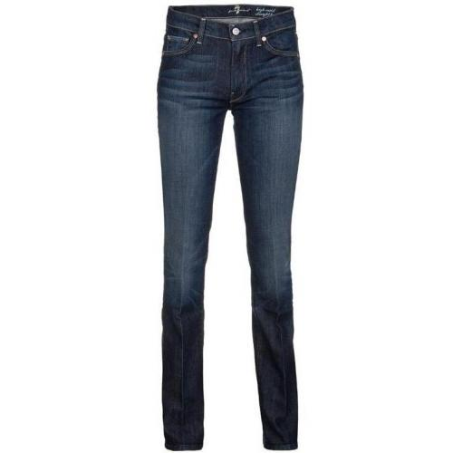 Seven For All Mankind High Waist Straight Leg New York Dark