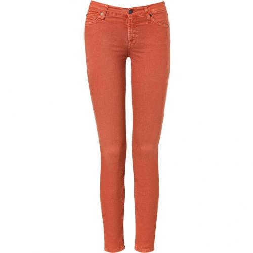 Seven for all Mankind Rust Second Skin Legging Jean Pant