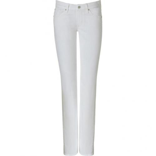 Seven for all Mankind White Straight Kimmie Jeans