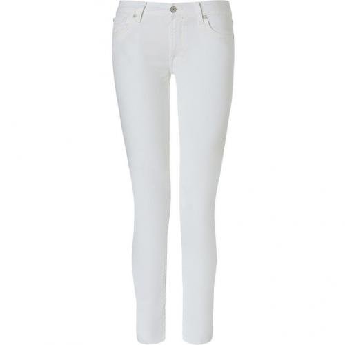 Seven for all Mankind White Super Skinny Gwenevere Jeans