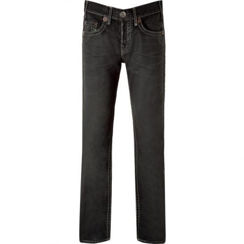 True Religion Black High Noon Cityslicker Logan Jeans
