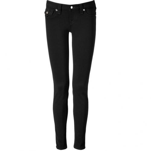 True Religion Black Skinny Pants with Swarovski Embellishment
