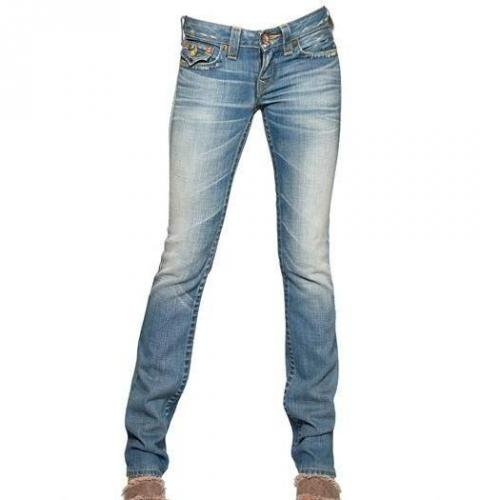 True Religion - Stretch Denim Straight Leg Billy Jeans