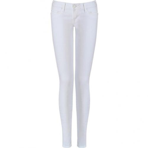 True Religion White Alex Phantom Skinny Jeans